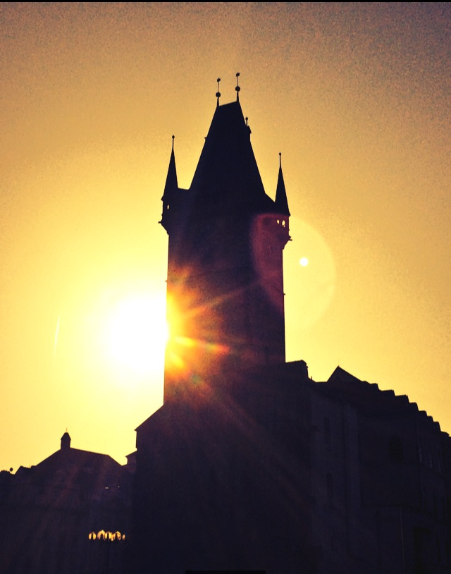 Sunset in Prague Old Town Square